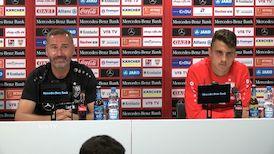 Die VfB Pressekonferenz vor dem Spiel in Heidenheim