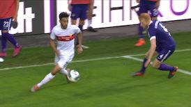 1. Halbzeit: Aue - VfB Stuttgart