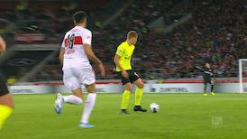 1. Halbzeit: VfB Stuttgart - SV W. Wiesbaden