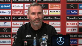 Die VfB Pressekonferenz vor dem Spiel in Hannover