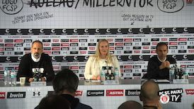 Pressekonferenz: FC St. Pauli - VfB Stuttgart