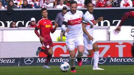 1. Halbzeit: VfB Stuttgart - Jahn Regensburg