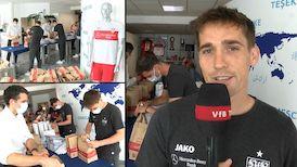Gemeinsam gegen Corona - die VfB Profis spenden an Helfer und Bedürftige