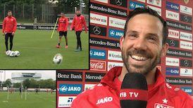 Gut gelaunt in die neue Trainingswoche: Gonzalo Castro