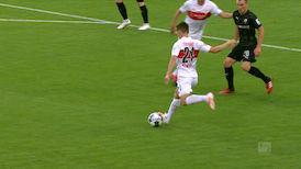 2. Halbzeit: VfB Stuttgart - Sandhausen