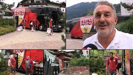 Die Ankunft im Trainingslager in Kitzbühel
