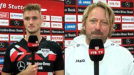 Die Interviews nach dem Spiel gegen Bayer Leverkusen