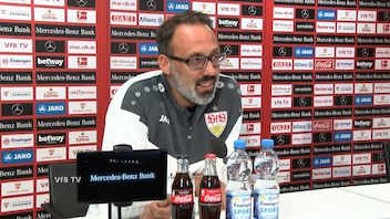 Die virtuelle Presserunde vor dem Heimspiel gegen Köln