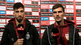 Die VfB Interviews nach dem Spiel gegen den 1. FC Köln