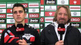 Die Interviews nach dem DFB-Pokalspiel gegen Freiburg