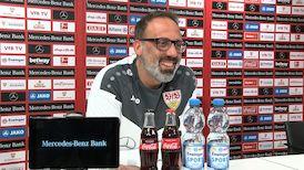 Die virtuelle Presserunde vor dem Spiel gegen die TSG Hoffenheim