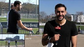 VfB Trainings-Zaungast: Hamadi Al Ghaddioui