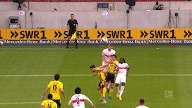 1. Halbzeit: VfB Stuttgart - Borussia Dortmund