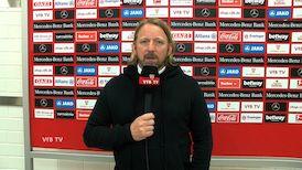 Sven Mislintat nach der Partie gegen Augsburg