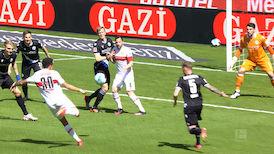 1. Halbzeit: VfB Stuttgart - DSC Arminia Bielefeld