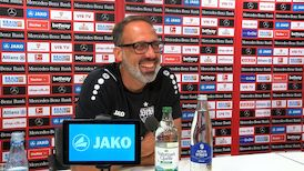 Die Pressekonferenz vor dem Bundesliga-Start gegen Fürth