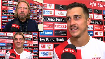 Die Interviews nach dem Bundesligastart gegen Fürth