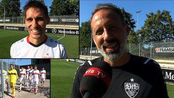 Die Interviews zum Testspiel gegen den 1. FC Nürnberg